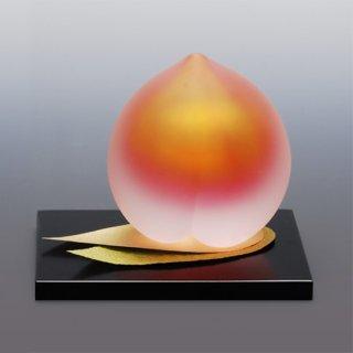 桃飾り 大 PEACH DECORATION ガラスで飾る桃の節句