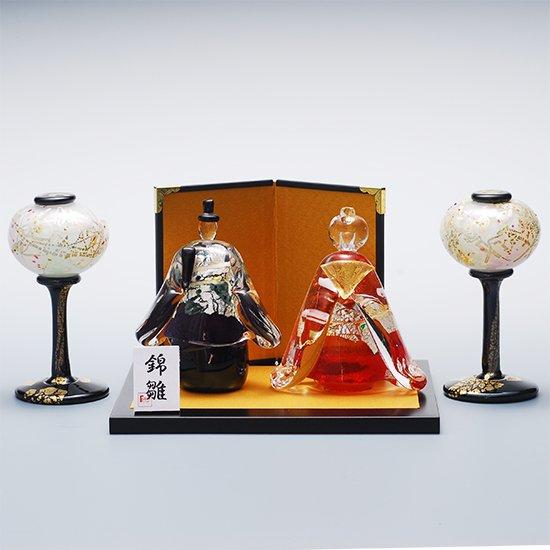 錦雛 立大 (ガラスのひな人形)【送料無料】