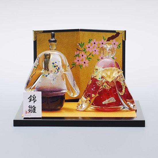 錦雛 桜 立大 (ガラスのひな人形)【送料無料】