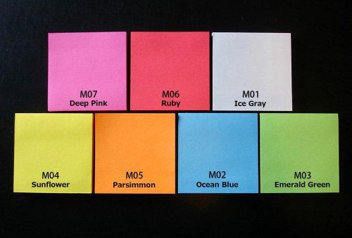 gnotesM:75mmx75mm7色セット