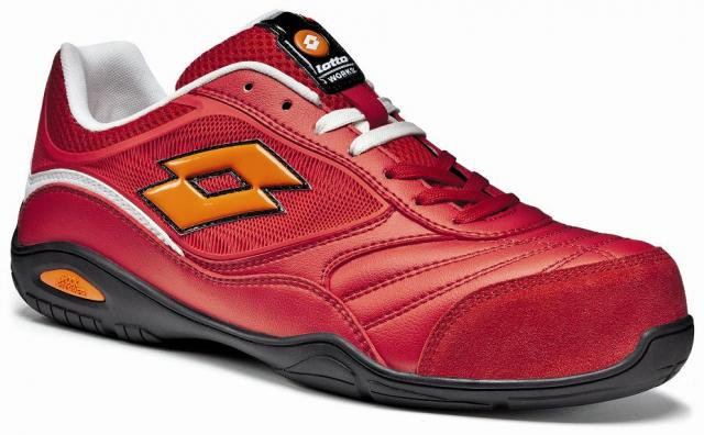 Lotto 安全靴 LQ2005 Fiery red/White