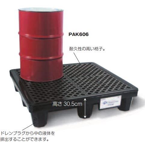 ピグ®スタンダードポリスピルコンテイメントパレット PAK606