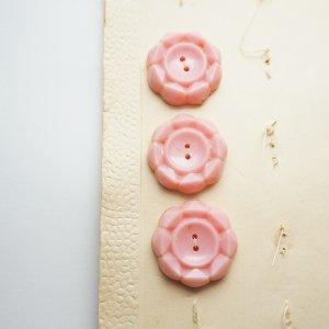 フラワーカットボタン(ピンク)