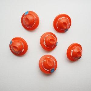 まる帽子ボタン(オレンジ)