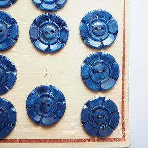 ビッグフラワーボタン(ブルー)