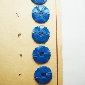 フラワーボタン(ブルー)