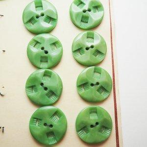 トライアングル透かしボタン(グリーン)