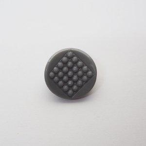 グレイドットガラスボタン