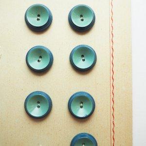 ブルーxグリーンツートンボタンS