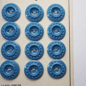 縁どりレリーフボタンM(ブルー)