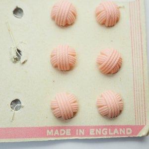 毛糸玉ボタンS(ピンク)