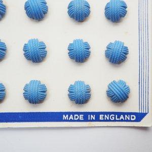 毛糸玉ボタンS(ブルー)