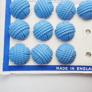 毛糸玉ボタンL(ブルー)