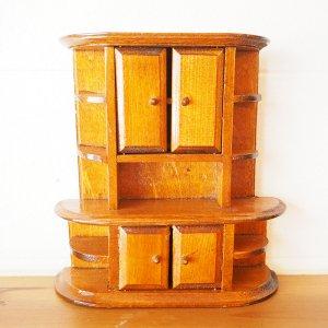 木製本棚のミニチュア