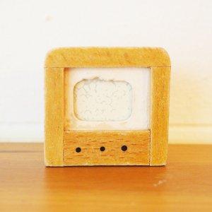 木製テレビのミニチュア