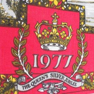 シルバージュビリー(ウインザー城とバッキンガム宮殿)ティータオル