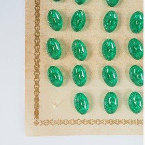 オーバルクリアボタンM(グリーン)