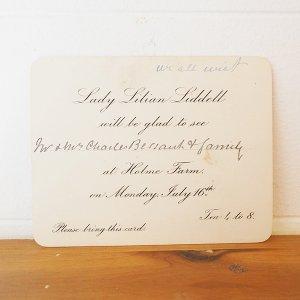 ティーパーティの招待状