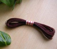 ブラウン 10m巻き 0.75mm  マクラメ編み 紐コード