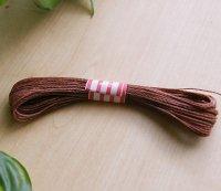ライトブラウン 10m巻き 0.75mm  マクラメ編み 紐コード