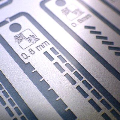 海魂 - 鋼魂 凹モールド用筋彫りテンプレート(AW-110)