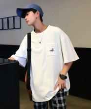 【neos/ネオス】KANGOL ルーズシルエット ポケ付き ワンポイントロゴ Tシャツ