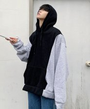 <img class='new_mark_img1' src='https://img.shop-pro.jp/img/new/icons61.gif' style='border:none;display:inline;margin:0px;padding:0px;width:auto;' />【neos/ネオス】ビッグシルエット 配色 切替 プルパーカー●