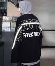 【neos/ネオス】ビッグシルエット アーチロゴ リフレクターライン PU ロング Tシャツ●
