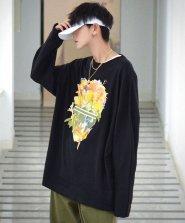 【neos/ネオス】ルーズシルエット リフレクターテープ使い スカル Tシャツ●