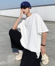 【neos/ネオス】ルーズシルエット クルーネック 半袖 ベーシック Tシャツ●
