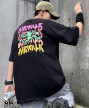 <img class='new_mark_img1' src='https://img.shop-pro.jp/img/new/icons61.gif' style='border:none;display:inline;margin:0px;padding:0px;width:auto;' />【neos -sellect design-】AIR WALK エアウォーク ルーズシルエット USAコットン バックプリント ロゴ Tシャツ●