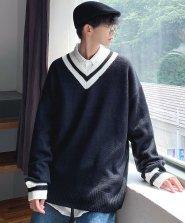 【neos/ネオス】オーバーサイズ Vネック チルデン セーター