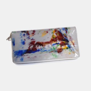 macromauro<br>paint gray wallet M<br>White Line(B)