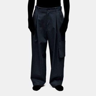 VOAAOV<br>tuck wide pocket pants