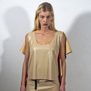 WENDY JIM<br>TANK TOP WITH SQUARE BEIGE