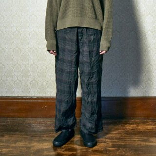 yoko sakamoto<br>BAGGY WORK PANTS (CHECK)<img class='new_mark_img2' src='//img.shop-pro.jp/img/new/icons2.gif' style='border:none;display:inline;margin:0px;padding:0px;width:auto;' />