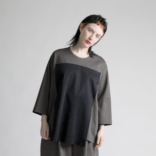 my beautiful landlet<br>ponte-roma square 3/4 wide tee<img class='new_mark_img2' src='https://img.shop-pro.jp/img/new/icons20.gif' style='border:none;display:inline;margin:0px;padding:0px;width:auto;' />