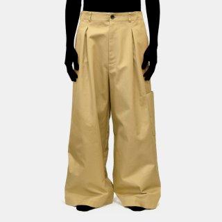 VOAAOV<br>twill tuck baggy pants