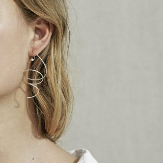 trine tuxen jewely<br>LARGE SPIRAL EARRING · OPAL