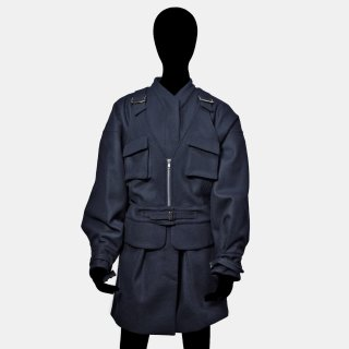 AKIKO AOKI<br>Army short coat<img class='new_mark_img2' src='https://img.shop-pro.jp/img/new/icons2.gif' style='border:none;display:inline;margin:0px;padding:0px;width:auto;' />