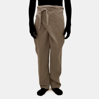 COSMIC WONDER<br>ramie line wool wrapped pants<img class='new_mark_img2' src='https://img.shop-pro.jp/img/new/icons2.gif' style='border:none;display:inline;margin:0px;padding:0px;width:auto;' />