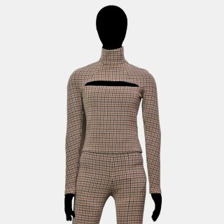 A.W.A.K.E  MODE<br>Gingham Mailbox turtleneck top<img class='new_mark_img2' src='https://img.shop-pro.jp/img/new/icons2.gif' style='border:none;display:inline;margin:0px;padding:0px;width:auto;' />