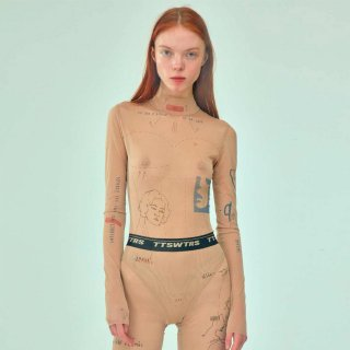 TTSWTRS<br>POLO-NECK MESH BODYSUIT