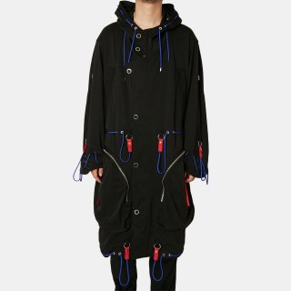 ALMOSTBLACK<br> draw code long anorak<img class='new_mark_img2' src='https://img.shop-pro.jp/img/new/icons2.gif' style='border:none;display:inline;margin:0px;padding:0px;width:auto;' />