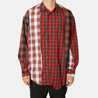 ALMOSTBLACK<br>switching check shirt<img class='new_mark_img2' src='https://img.shop-pro.jp/img/new/icons2.gif' style='border:none;display:inline;margin:0px;padding:0px;width:auto;' />