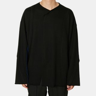 ALMOSTBLACK<br>switching sweatshirt<img class='new_mark_img2' src='https://img.shop-pro.jp/img/new/icons2.gif' style='border:none;display:inline;margin:0px;padding:0px;width:auto;' />