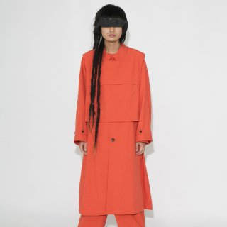 VOAAOV<br>nylon rayerd long coat