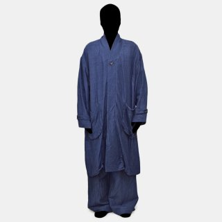 VOAAOV<br> linen rayon big coat