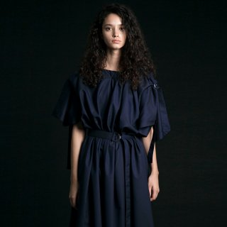 my beautiful landlet<br>stripe wool long dress