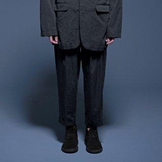 yoko sakamoto<br>1TUCK TAPERED TROUSERS (COTTON)